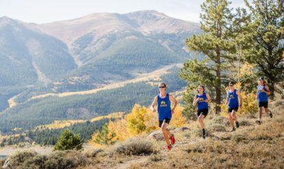 photo: Colorado Mountain College Cross Country Team trail running in the mountains surrounding Leadville.